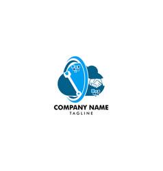 cloud deal and repair logo design element vector image