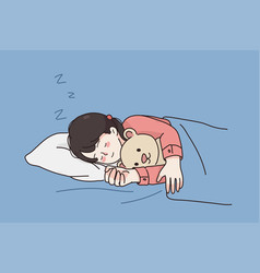 comfortable rest sleep during night concept vector image