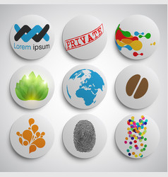 different badges vector image
