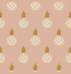 elegant pineapple blush colored fabric wallpaper vector image