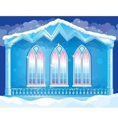 Facade Of Ice Royal Palace vector image