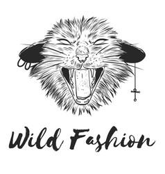 fashion artistic hand drawn stylish vector image