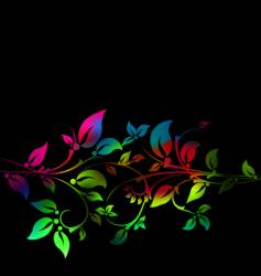 floral decorative pattern vector image