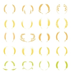 Gold laurel wreath - a symbol of the winner vector