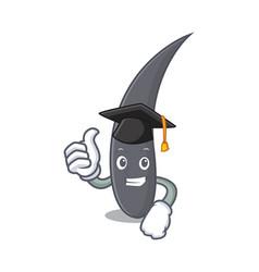 Graduation hair character cartoon style vector