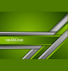 Green grey abstract corporate material background vector