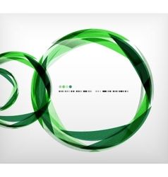 Green ring - business abstract bubble vector image