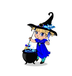 Halloween clip art character of kawaii blonde vector