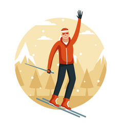 happy man on winter vector image