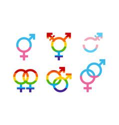 Homosexual heterosexual relationship union icon vector