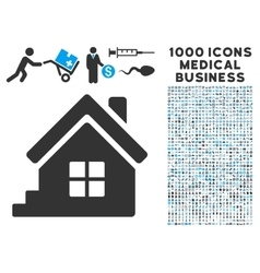 House porch icon with 1000 medical business vector
