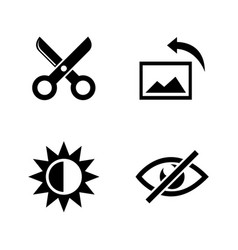 image editing simple related icons vector image