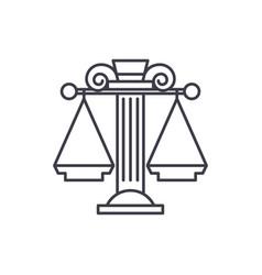judicial system line icon concept judicial system vector image