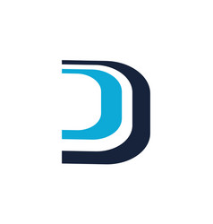 letter d dd modern vector image