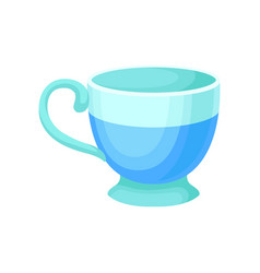 light blue ceramic tea or coffee cup vector image