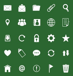 Mail icons on green background vector image