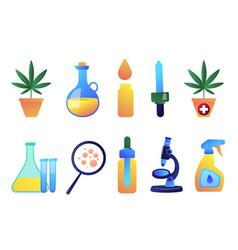 medical cannabis and cannabidiol oil vector image