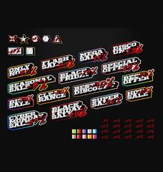 mega set sale tag builder kit typography in sport vector image