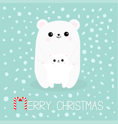 Merry christmas candy cane polar white small vector