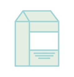 Milk box drink isolated icon vector