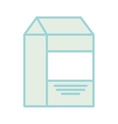 Milk box drink isolated icon vector