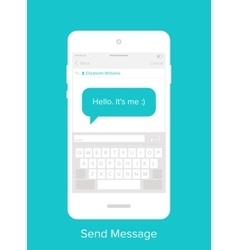 Mobile User Interface vector image