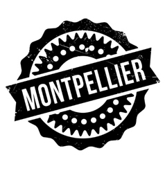Montpellier stamp rubber grunge vector