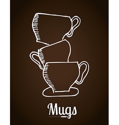 mugs icon vector image