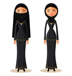 muslim arab woman in a hijab arab people vector image