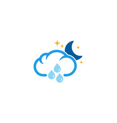 night weather and season logo icon design vector image