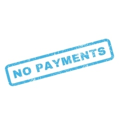 No Payments Rubber Stamp vector image