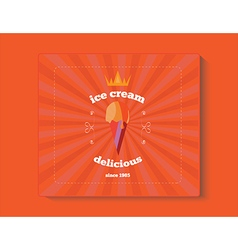 object banner retro icecream vector image