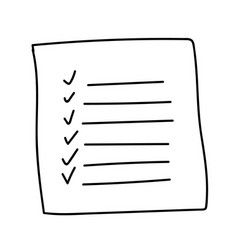 Outline check to do list bullet vector