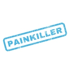 Painkiller rubber stamp vector