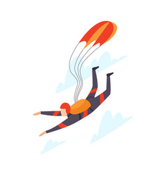 Parachutist skydiving isolated vector