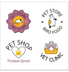 Pet shop symbols vector
