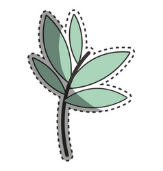 Plants with leaves icon image vector