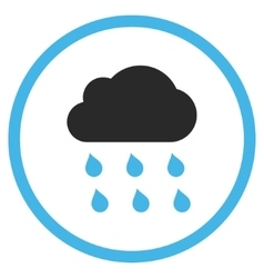 Rain Cloud Flat Icon vector image