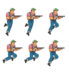Red neck jumping sprite vector