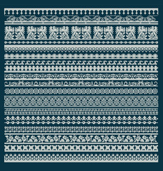 set lace trims vector image
