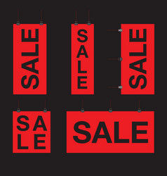 set of sale hanging signs vector image