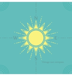 solar compass vector image