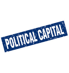 Square grunge blue political capital stamp vector