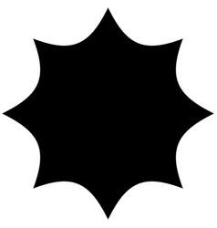 Starburst sunburst or gleam glitter shape element vector