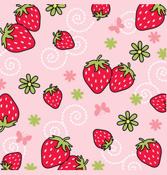 Strawberry pattern 02 vector