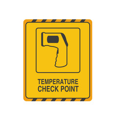 Temperature check point on white background vector