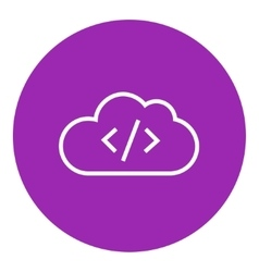 Transferring files cloud apps line icon vector