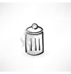 trash grunge icon vector image