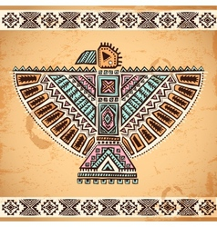 Tribal native American eagle symbols vector