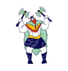 Viking scandinavian warrior male character vector